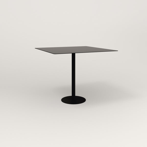 RAD Cafe Table, Rectangular Bolt Down Base in aluminum and black powder coat.
