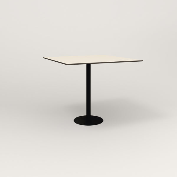 RAD Cafe Table, Rectangular Bolt Down Base in hpl and black powder coat.