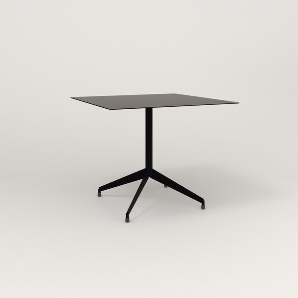 RAD Cafe Table, Rectangular Flat Four Point Base in aluminum and black powder coat.