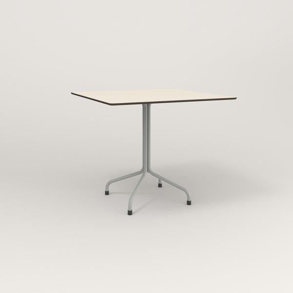 RAD Cafe Table, Rectangular Tube Four Point Base in hpl and grey powder coat.