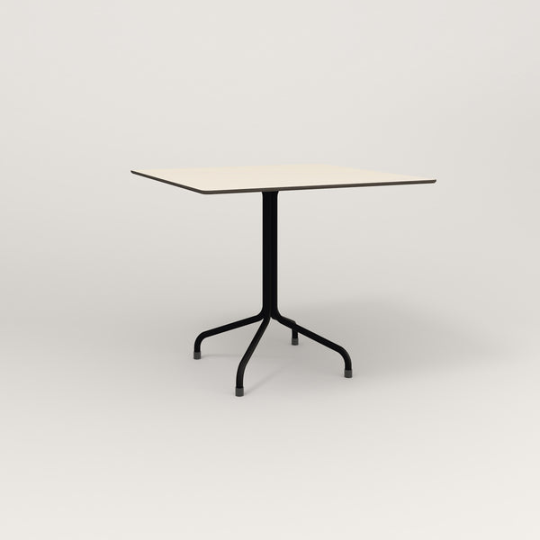 RAD Cafe Table, Rectangular Tube Four Point Base in hpl and black powder coat.