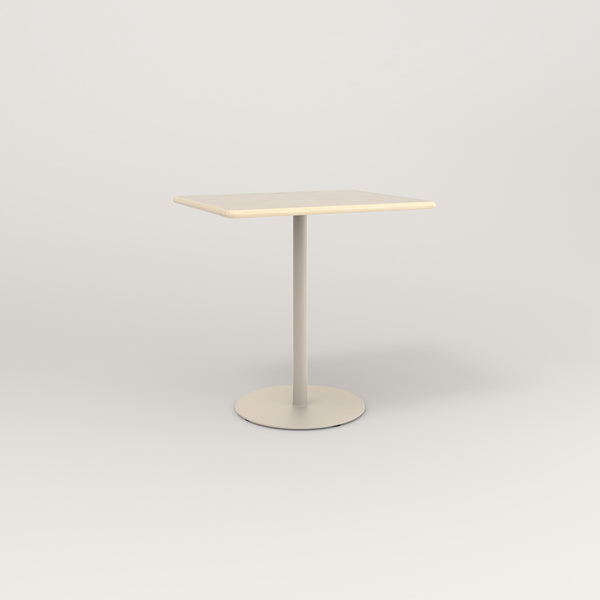 RAD Cafe Table, Rectangular Weighted Base in solid ash and off-white powder coat.