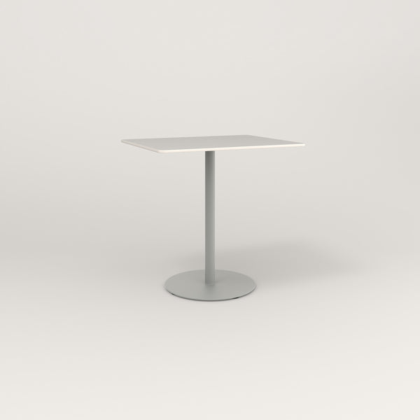 RAD Cafe Table, Rectangular Weighted Base in acrylic and grey powder coat.