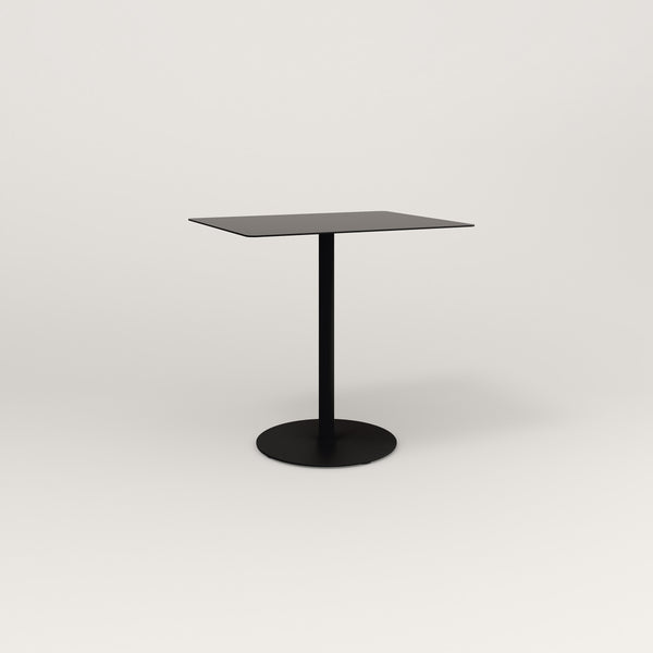 RAD Cafe Table, Rectangular Weighted Base in aluminum and black powder coat.