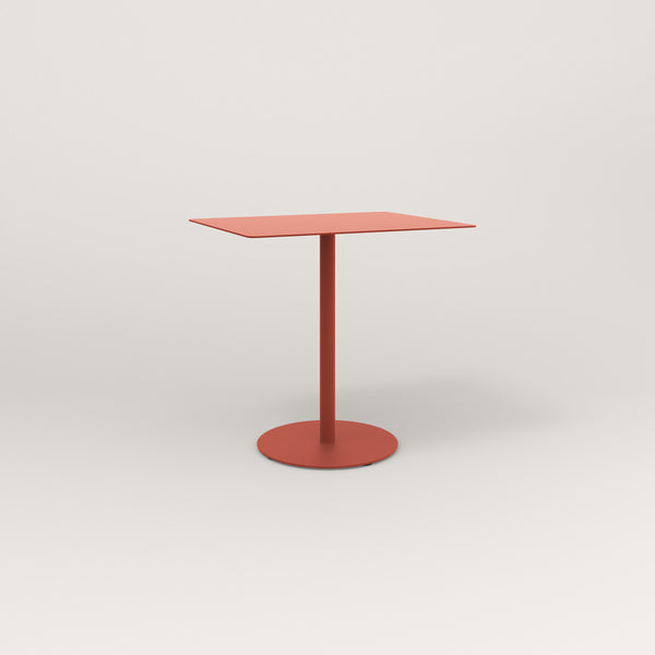 RAD Cafe Table, Rectangular Weighted Base in aluminum and red powder coat.