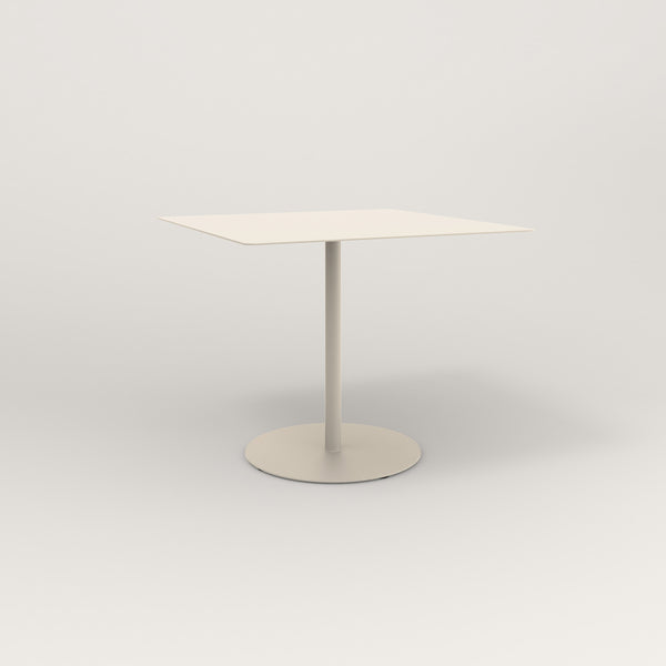 RAD Cafe Table, Rectangular Weighted Base in aluminum and off-white powder coat.