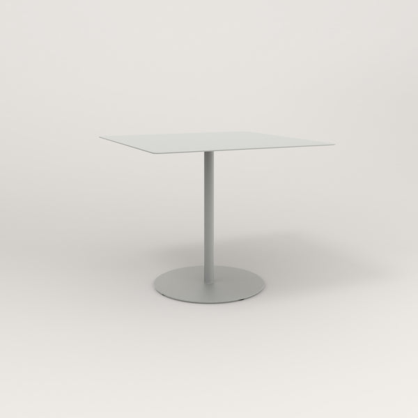 RAD Cafe Table, Rectangular Weighted Base in aluminum and grey powder coat.