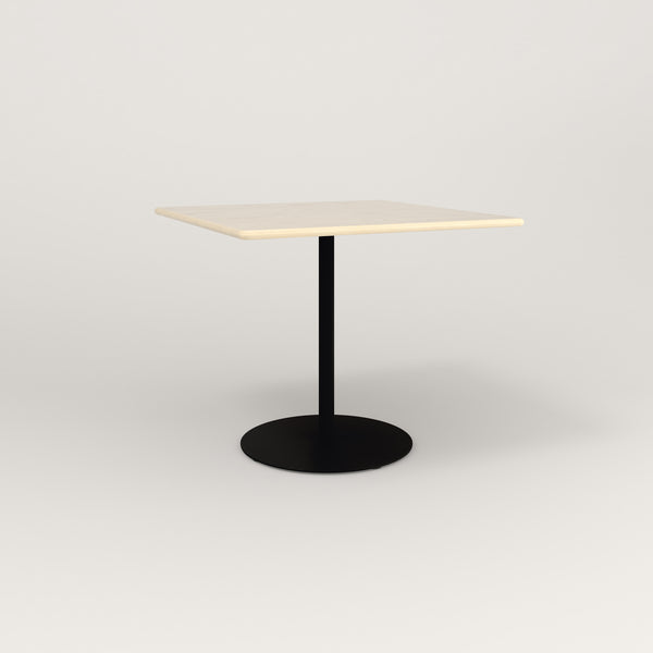 RAD Cafe Table, Rectangular Weighted Base in solid ash and black powder coat.