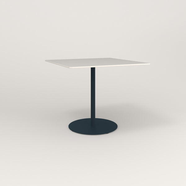 RAD Cafe Table, Rectangular Weighted Base in acrylic and navy powder coat.