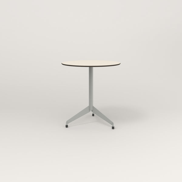 RAD Cafe Table, Round Flat Tripod Base in hpl and grey powder coat.