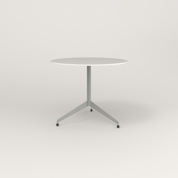 RAD Cafe Table, Round Flat Tripod Base in acrylic and grey powder coat.