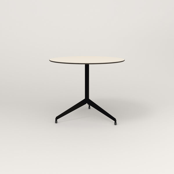 RAD Cafe Table, Round Flat Tripod Base in hpl and black powder coat.