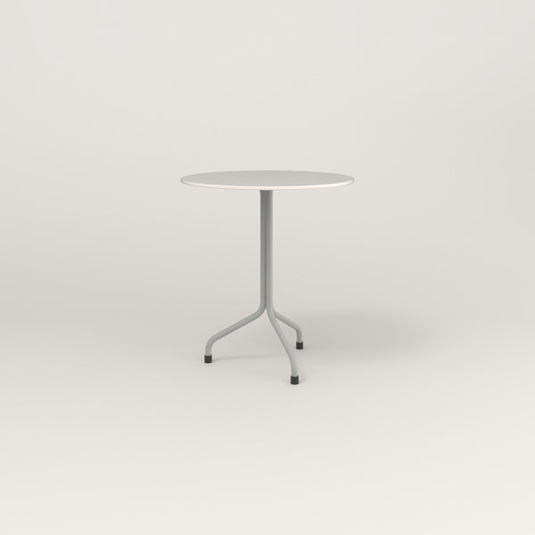 RAD Cafe Table, Round Tube Tripod Base in acrylic and grey powder coat.