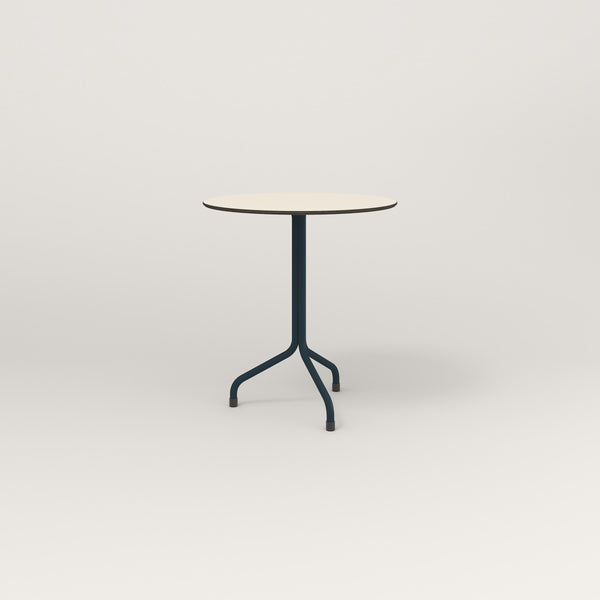RAD Cafe Table, Round Tube Tripod Base in hpl and navy powder coat.
