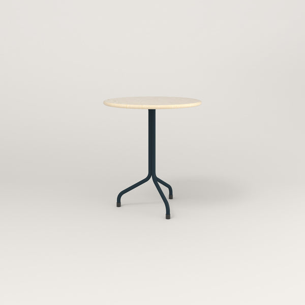 RAD Cafe Table, Round Tube Tripod Base in solid ash and navy powder coat.