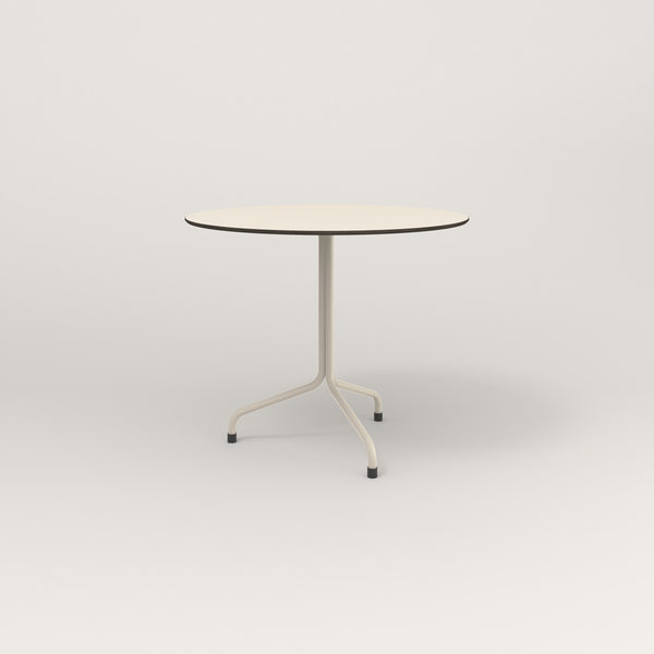 RAD Cafe Table, Round Tube Tripod Base in hpl and off-white powder coat.