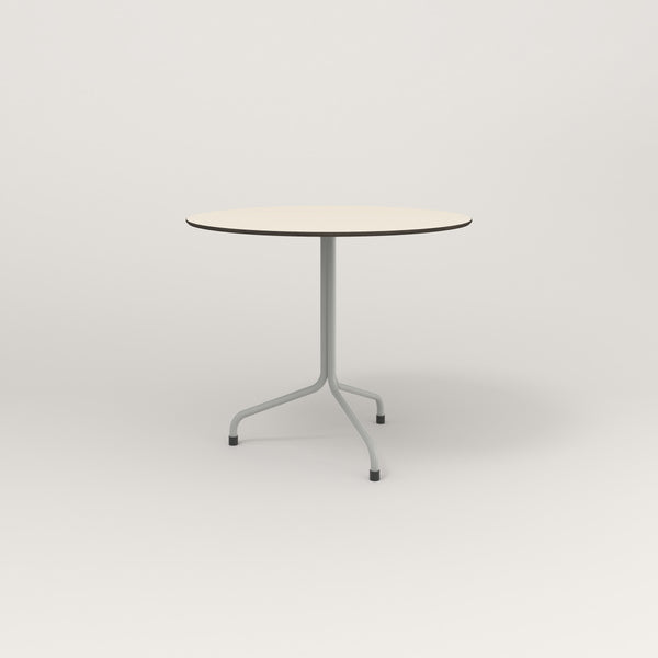 RAD Cafe Table, Round Tube Tripod Base in hpl and grey powder coat.