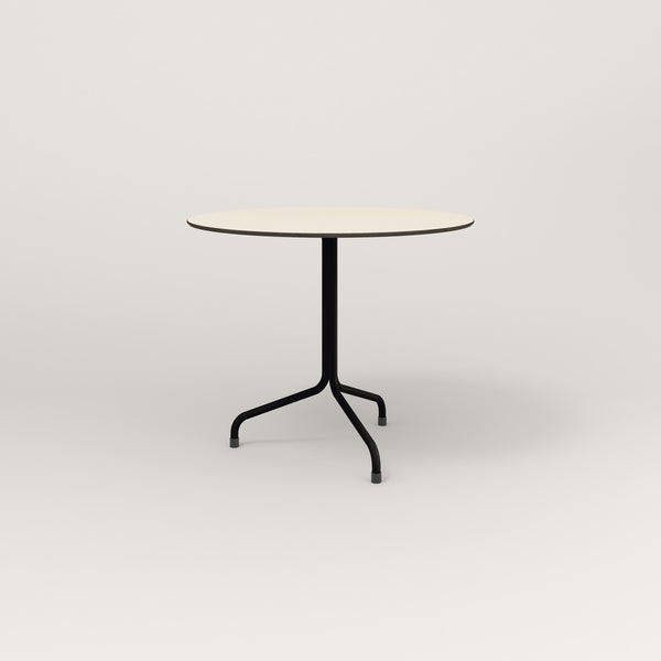 RAD Cafe Table, Round Tube Tripod Base in hpl and black powder coat.
