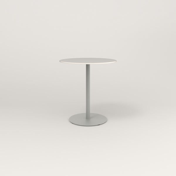 RAD Cafe Table, Round Weighted Base in acrylic and grey powder coat.