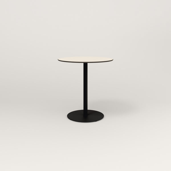 RAD Cafe Table, Round Weighted Base in hpl and black powder coat.