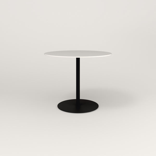 RAD Cafe Table, Round Weighted Base in acrylic and black powder coat.