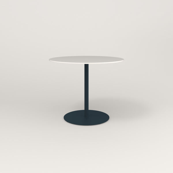 RAD Cafe Table, Round Weighted Base in acrylic and navy powder coat.