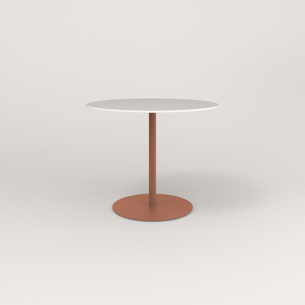 RAD Cafe Table, Round Weighted Base in acrylic and coral powder coat.
