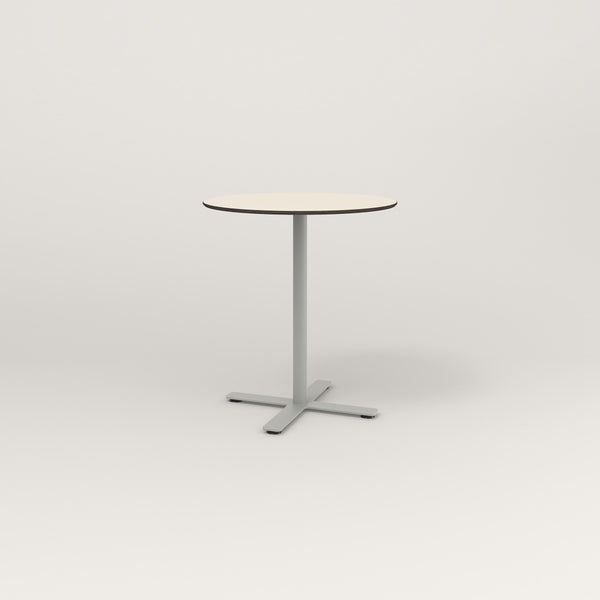 RAD Cafe Table, Round X Base in hpl and grey powder coat.