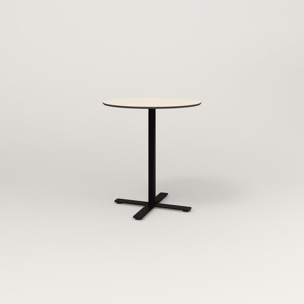 RAD Cafe Table, Round X Base in hpl and black powder coat.