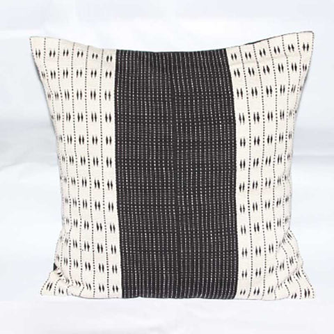 "White & Black Pillow — 16"" x 16"""
