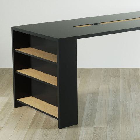 Conference Table with Shelves