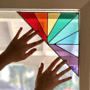 Corner Panel - Large Triangle Rainbow