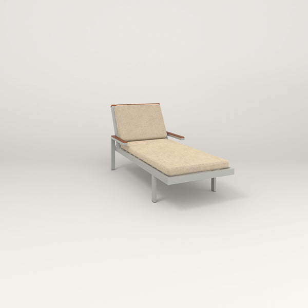 RAD Square Chaise in grey powder coat.