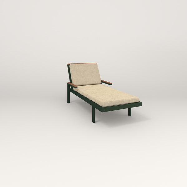 RAD Square Chaise in fir green powder coat.