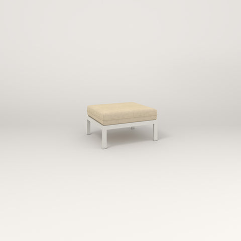 RAD Square Ottoman in white powder coat.