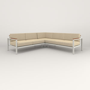 RAD Square Sofa — Sectional in white powder coat.