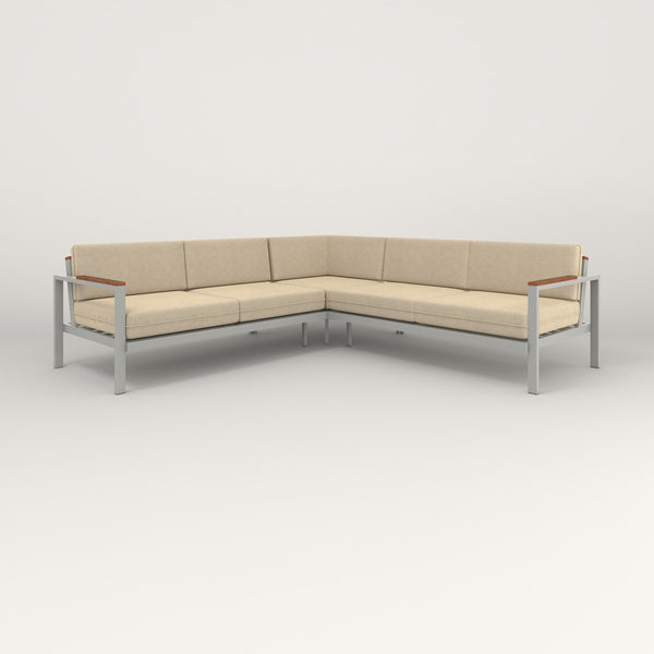 RAD Square Sofa — Sectional in grey powder coat.