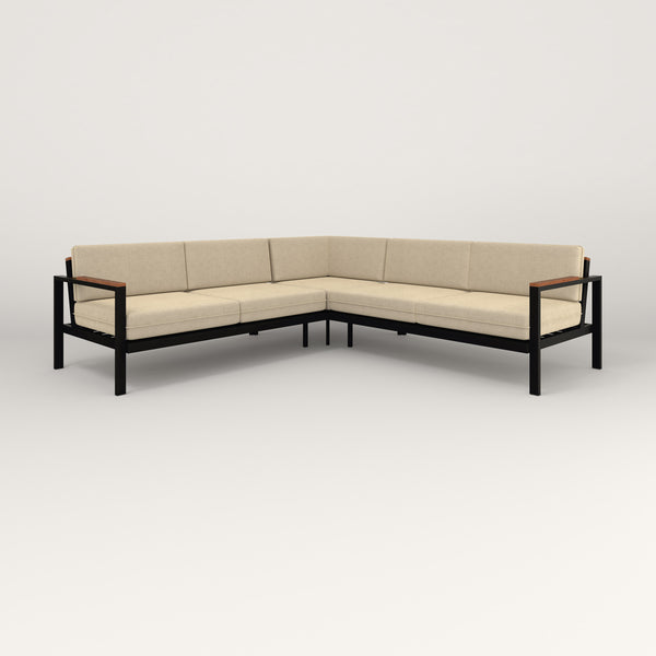 RAD Square Sofa — Sectional in black powder coat.
