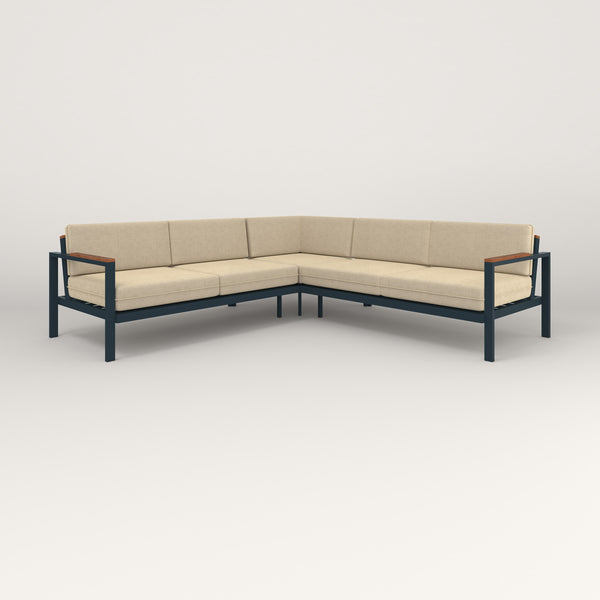 RAD Square Sofa — Sectional in navy powder coat.