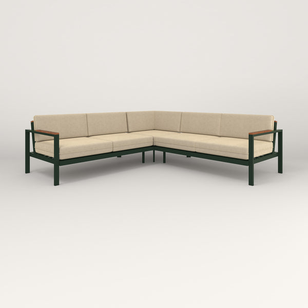 RAD Square Sofa — Sectional in fir green powder coat.