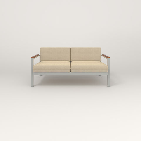 RAD Square Sofa — Medium in grey powder coat.
