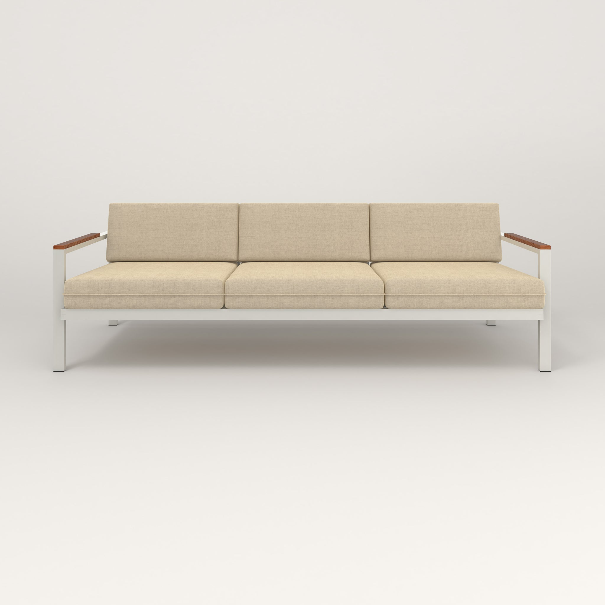 RAD Square Sofa — Large in white powder coat.