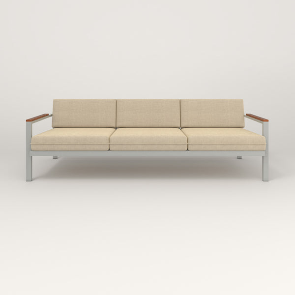 RAD Square Sofa — Large in grey powder coat.