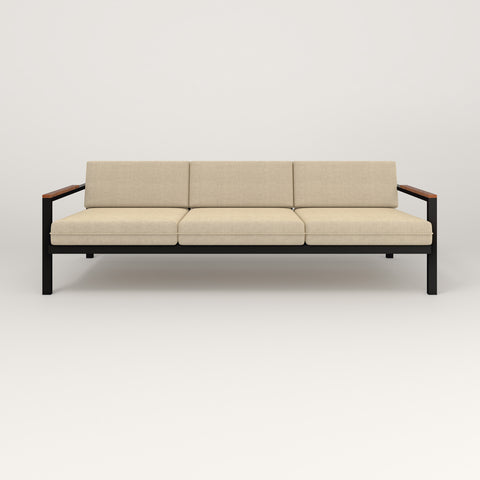 RAD Square Sofa — Large in black powder coat.