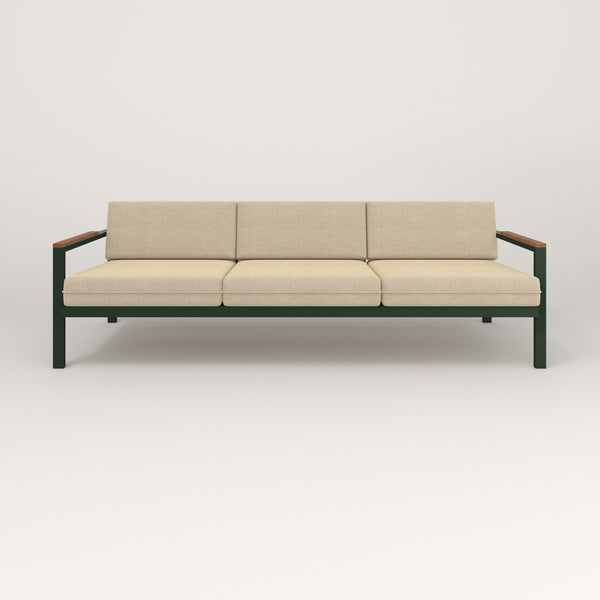 RAD Square Sofa — Large in fir green powder coat.