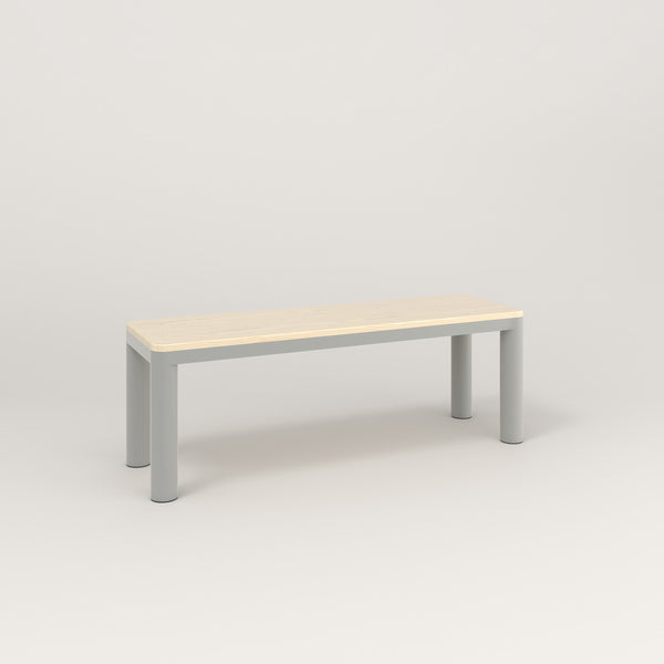 RAD Radius Bench in solid ash and grey powder coat.