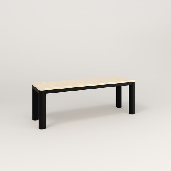 RAD Radius Bench in solid ash and black powder coat.