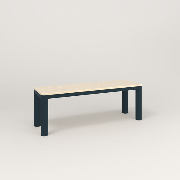RAD Radius Bench in solid ash and navy powder coat.