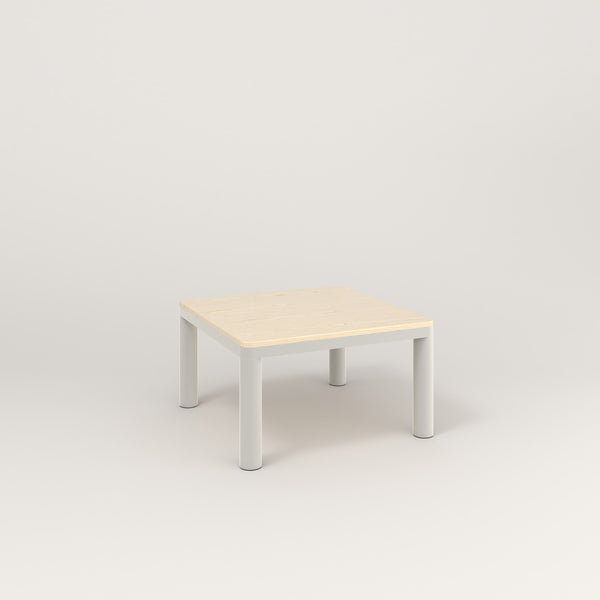 RAD Radius Coffee Table in solid ash and white powder coat.