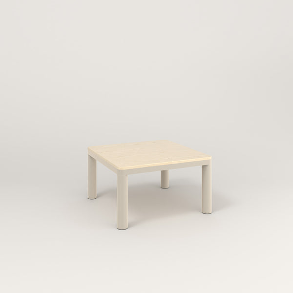 RAD Radius Coffee Table in solid ash and off-white powder coat.
